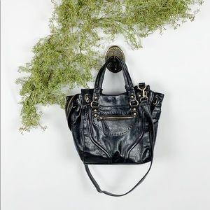 Melie Black Vegan Leather Convertible Crossbody